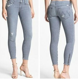 "WornonceMother ""The Looker Ankle Zip Skinny Jeans"""